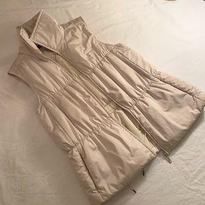 Lafayette 148 New York ivory puffy vest
